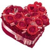 Serce papierowe róże Zdjęcia Royalty Free