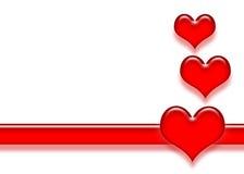 serce paski Zdjęcia Stock