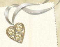 serce perła Fotografia Stock