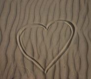 serce piasku zdjęcia stock