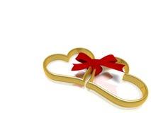 serce pierścionek Zdjęcie Stock