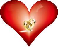 serce pierścionek Zdjęcia Royalty Free