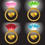 serce pierścionki Zdjęcia Royalty Free