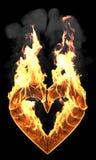 serce pożarniczy dym Obraz Royalty Free