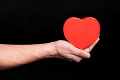 Serce podpisuje wewnątrz rękę Fotografia Royalty Free