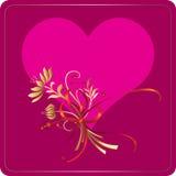 serce przepływu valentin Zdjęcia Stock