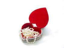 serce pudełkowata perły zdjęcie stock