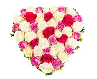 Serce róże Obraz Stock