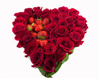 Serce róże Obrazy Royalty Free