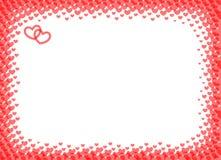 Serce rama dla foto halftone wektorowej ilustraci Zdjęcie Royalty Free