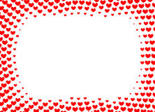 Serce rama dla foto halftone wektorowej ilustraci Fotografia Stock