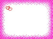 Serce rama dla foto halftone wektorowej ilustraci Zdjęcia Royalty Free
