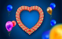 Serce rama z balonami ilustracji