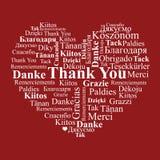 Serce robić słowa Dziękuje Ciebie Obrazy Stock