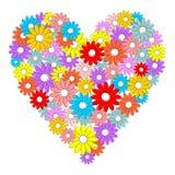 Serce robić kolorowi kwiaty royalty ilustracja