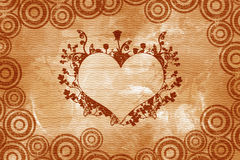 serce rocznik walentynki royalty ilustracja