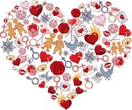 Serce romantyczny Zdjęcie Stock