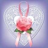serce rose sznurówki rocznik Fotografia Royalty Free