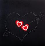 Serce rysujący z kredą Fotografia Stock