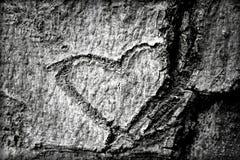 Serce rzeźbił w barkentynę drzewo Fotografia Royalty Free