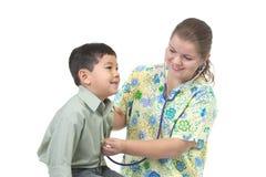 serce słucha pielęgniarki Fotografia Royalty Free