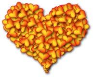 Serce serca - pomarańcze zdjęcia stock