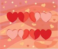Serce skala ożywiać miłości i umierać ilustracja wektor