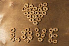 Serce - smakowici bagels na tle Obraz Stock
