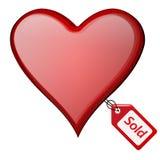 serce sprzedający Zdjęcia Royalty Free