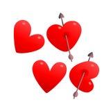 Serce symbolu listy piszą miłości Zdjęcia Stock