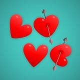 Serce symbolu listy piszą miłości Zdjęcia Royalty Free