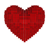 Serce sześciany Fotografia Stock
