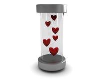 serce szklana tubka ilustracji