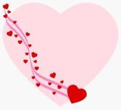serce tła Ilustracji