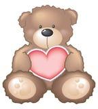 serce teddy bear Obrazy Stock