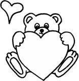 serce teddy bear Obrazy Royalty Free