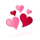 Serce tomowy wektor, miłość projekt Ilustracji