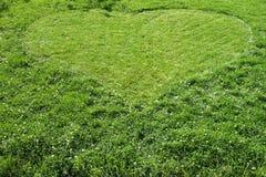 serce trawy Obrazy Stock