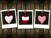 serce trzy Zdjęcie Stock