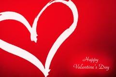serce valentines powitanie mój portfolio Obraz Stock
