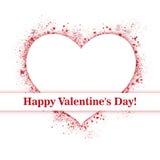 serce valentines powitanie mój portfolio Obraz Royalty Free