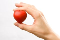 Serce w żeńskiej ręce zdjęcie royalty free