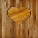 Serce w drewnianym kształcie dla twój projekta. + EPS8 Obrazy Royalty Free