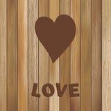 Serce w drewnianym tło szablonie. + EPS8 Obraz Royalty Free