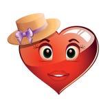 Serce w kapeluszu royalty ilustracja