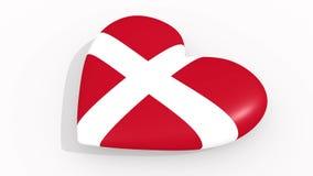 Serce w kolorach Niepodległy Militarny rozkaz Malta ilustracja wektor