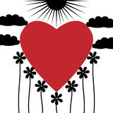 Serce w naturze Obrazy Stock