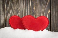 Serce w śniegu Obrazy Stock