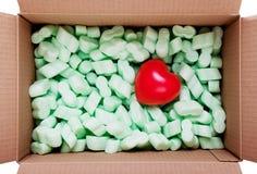 Serce w pudełku Zdjęcie Royalty Free