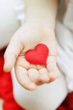 Serce w ręce zdjęcie stock